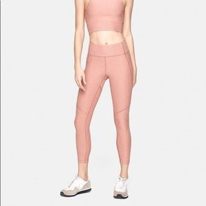 Outdoor Voices 3/4 Warmup Leggings In Blush